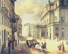 La Milano ottocentesca dipinta da Angelo Inganni