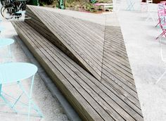 Rock Solid Advice On How To Spruce Up Your Landscaping - House Garden Landscape Architecture Pliage, Folding Architecture, Landscape Architecture, Urban Furniture, Street Furniture, Home And Garden, Wood, Outdoor Decor, House