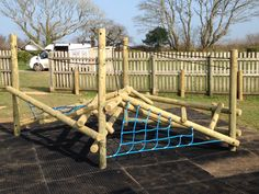 Imaginative, Challenging and Stimulating Playground Equipment & Treehouse Accessories from South West Play - the traditional net makers of Cornwall, UK. Highly interactive rope and net play equipment. Play Equipment, Child Love, Play Houses, Garden Bridge, Playground, Bespoke, Projects To Try, Deck, Challenges