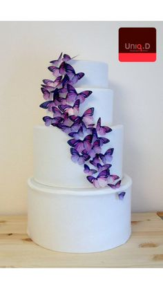 Edible butterflies for the cake