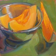 "Mellon Bowl"" - Original Fine Art for Sale - © Alice Andreini Oil Painting Lessons, Fruits Drawing, Still Life Fruit, Poster Art, Fruit Painting, Painting Still Life, Fruit Art, Art For Art Sake, Kitchen Art"