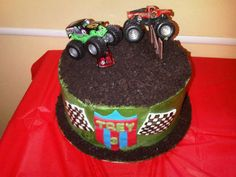 Brayden has informed me his next party is monster trucks ...makes it easy on me that he's decided lol