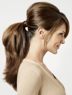 "Another ponytail! If you want to share your favourite ponytail on our separate board ""Hair Style"", follow us and comment this pin with ""ponytail"". #hair #style"