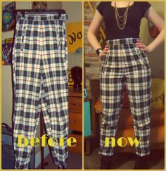 Craft, Thrift, or Die: Cheap Imitations vol.1: Pants; also more plaid, vintage, thrift store fashion