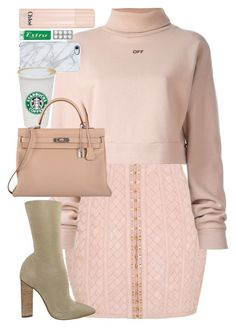 """""""I have not the pleasure of understanding you."""" by quiche ❤ liked on Polyvore featuring Balmain, Off-White, adidas Originals, Uncommon, Chloé and Hermès"""