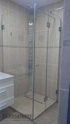 Cabină duș sticlă securizată Shower Cabin, Glass Design, Bathtub, Bathroom, Cabin, Standing Bath, Washroom, Bathtubs, Shower Enclosure