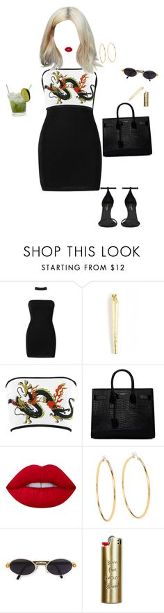 """""""Dani California"""" by redvalentonio ❤ liked on Polyvore featuring Boohoo, Yves Saint Laurent, Lime Crime, Juicy Couture, Caipirinha, Gianfranco Ferré and Good Worth & Co."""
