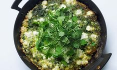 Like a new take on omelettes: baked eggs with summer herbs.