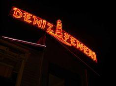 Deniz Feneri Balık Restaurant Neon Tabela.  Boran Reklam tabela örnekleri için www.boranreklam.com/tabela/ sayfamızı ziyaret ediniz.