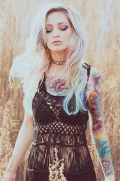 cute and colorful tattoo