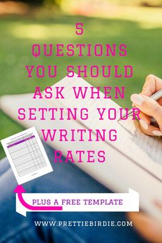Setting your freelance writing rates can be one of the hardest things to  do.  You want to set writing rates that are fair to both yourself and your  clients.  It's a fine balance between what you want to be paid and what you  can charge. To find the right rate for your writing services consider