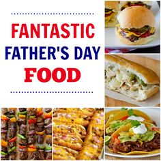Man Food Recipe Round-Up - Father's Day edition. ALL the best recipes right here!! I could eat these any day of the week! Burgers, hot dogs, Philly Cheesesteaks, Asphalt Pie, Poke Cakes and tons more!