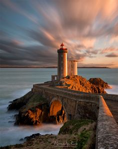 Tower Guard - The lighthouse Petite Minou in Brittany, France at sunset. Feel free to follow me on FACEBOOK or to visit my WEBSITE