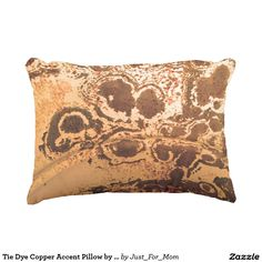 Tie Dye Copper Accent Pillow by Janz