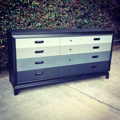 Grey ombre dresser.