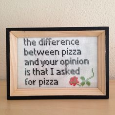 Pizza quote.  Maybe replace pizza with tacos, for my friend Dee!  :)