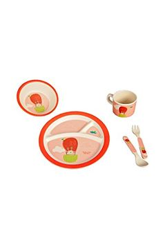 Eco Bamboo Fiber Fun 5 Piece Kids Tableware Set (Pink - Hippity Hop  Bunny) Greens Your Colour http://www.amazon.com/dp/B00TRODGR4/ref=cm_sw_r_pi_dp_KuUWvb09YN6F4