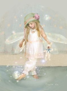 Charlotte Bird - Twinkle Toes. This would be cool painting for a child's room!
