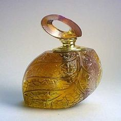 Lalique art glass perfume bottle