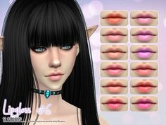 The Sims Resource: Lipgloss 6 by Aveira • Sims 4 Downloads