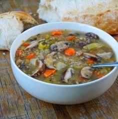 Mushroom + Buckwheat Soup (Hearty & Delicious) - The Simple Veganista Veggie Recipes, Whole Food Recipes, Soup Recipes, Vegetarian Recipes, Cooking Recipes, Healthy Recipes, Healthy Soups, Shrimp Recipes, Recipies