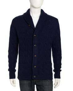 Cashmere Cable-Knit Cardigan, River by Vince at Neiman Marcus Last Call.