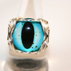 Blue Evil Eye Ring Evil Eye Jewelry Evil Eye Charm Evil Eye Protection Wire Wrapped Ring Pharaoh ring