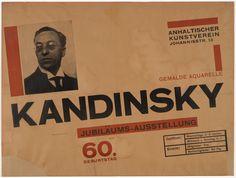 "Herbert Bayer. Kandinsky zum 60. Geburtstag. 1926. Letterpress and gravure. 19 x 25"" (48.2 x 63.5 cm)  19 x 25"" (48.3 x 63.5 cm).…"