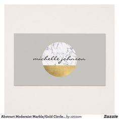 abstract modernist marblegold circle logo business card for interior designers crafters etsy - Interior Design Business Cards