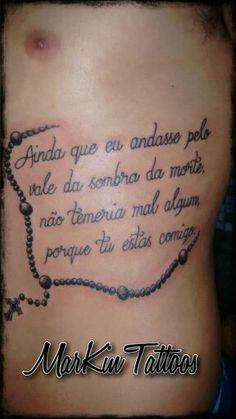 Salmo 23. | ·!¦[· Tattoo ·]¦!· | Salmo tatuagem, Tatuagem ...