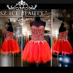 Heavy Beading Crystal Sparkling Short Homecoming Dresses Prom Gown Sweetheart Puffy Ball Gown Mini Party Dress For Girls 2017