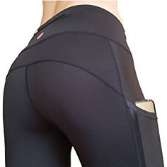 MYoga Women's Yoga Pants Workout Capri Leggings Running Tights w Side Pockets (XS-XL)