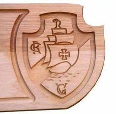 tábua churrasco placa madeira time vasco presente