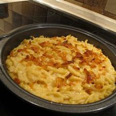 Kaese Spaetzle is  pure comfort food!  Spaetzle is referred to as a dumpling, though you may think this is a little more like fresh pasta. This version uses Emmentaler cheese and onions browned in butter!  Kaese Spaetzle Allrecipes.com
