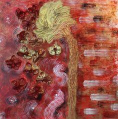 """Serie"""" Flowers"""" titolo Fuochi d'artificio cm. 80x80"""
