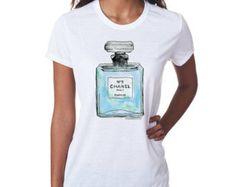 Chanel Perfume Inspired T-shirt; Blue (14-003)