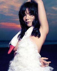 Bjork <3@dmvc Oscar Dresses, White Swan, Black Swan, Moma, Her Music, Solo Music, Swans, Inspiring People, Amazing People