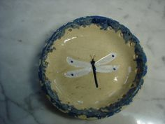 Dragonfly pottery pine needle basket bases on Etsy, $9.00