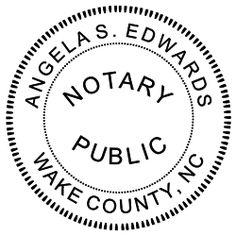 North Carolina Notary Seal impression