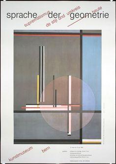 Original 1980s Josef Müller-Brockmann Swiss design poster. Part of our $100 Summer Clearance poster sale on September 30, 2013.