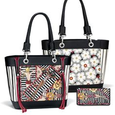 The girl from Ipanema goes walking by, and when she does, she turns heads with this playful handbag adorned with colorful illustrations of life at the beach. Life looks good with this carry-it-all! Brighton's New Fashionista Handbag and Wallet.