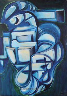 """""""Formalismo Interior nº1"""" (2006) Óleo sobre lienzo. J.A. Payá."""