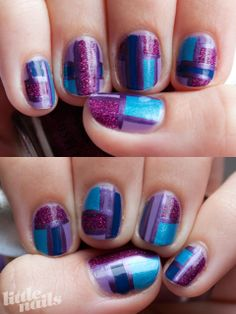 Purple Patchworks | Little Nails
