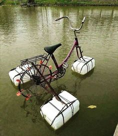 "33 Likes, 2 Comments - Recyclart (@werecyclart) on Instagram: ""Clever! Make your own #pedalo from an old #bike :) #recycled #reuse"""