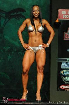 black body builder nude woman