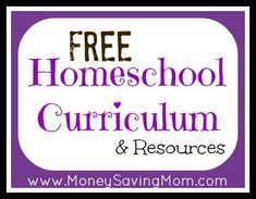 Free Homeschool Curriculum & Resources on Money Saving Mom