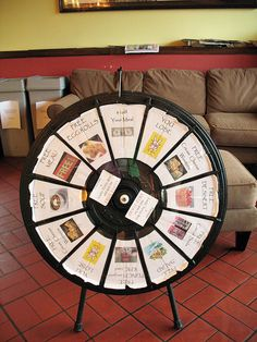 Spin the Wheel of Papyrus! (http://PrizeWheel.com/products/tabletop-prize-wheels/tabletop-black-clicker-prize-wheel-12-slot/)