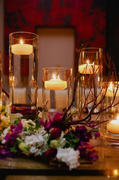 Floating Candle Centerpiece Wedding Pinterest Beautiful Roses And Vases