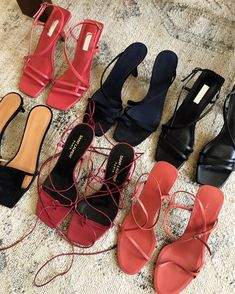'The Carrie Heel' - a strappy, minimalist kitten heel, the heel of Hea. Pretty Shoes, Cute Shoes, Me Too Shoes, Dream Shoes, New Shoes, Carrie, Mode Ootd, Kicker, Aesthetic Shoes