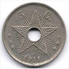 Belgian Congo 5 Centimes 1911 Birmingham